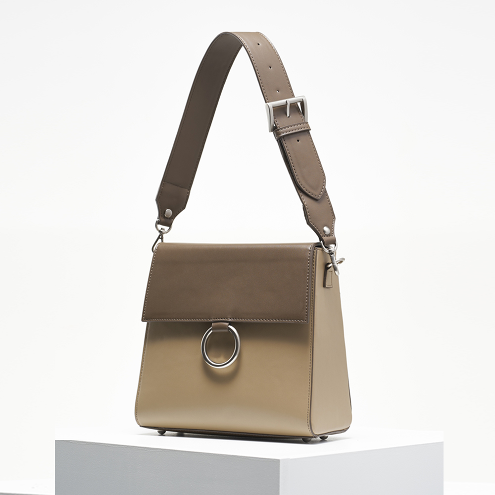 Two strap bag_etoffe&beige