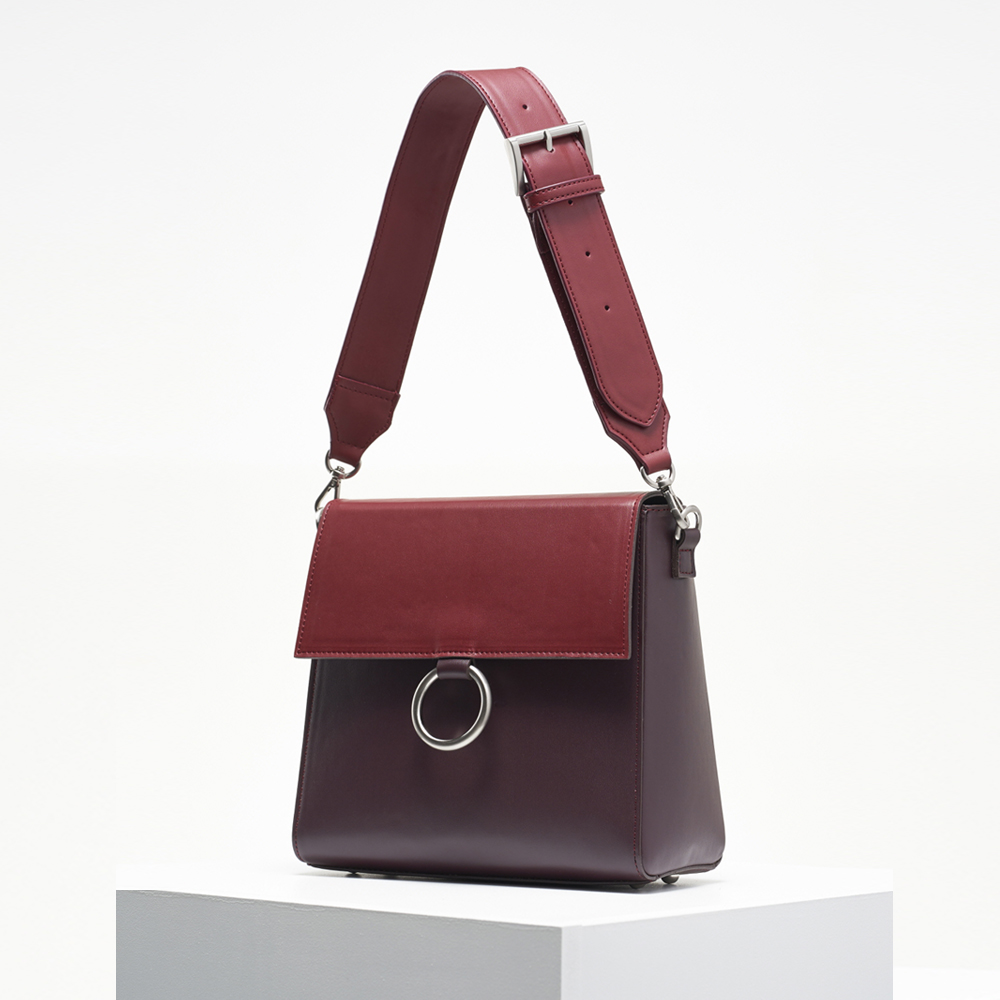 Two strap bag_burgundy&wine