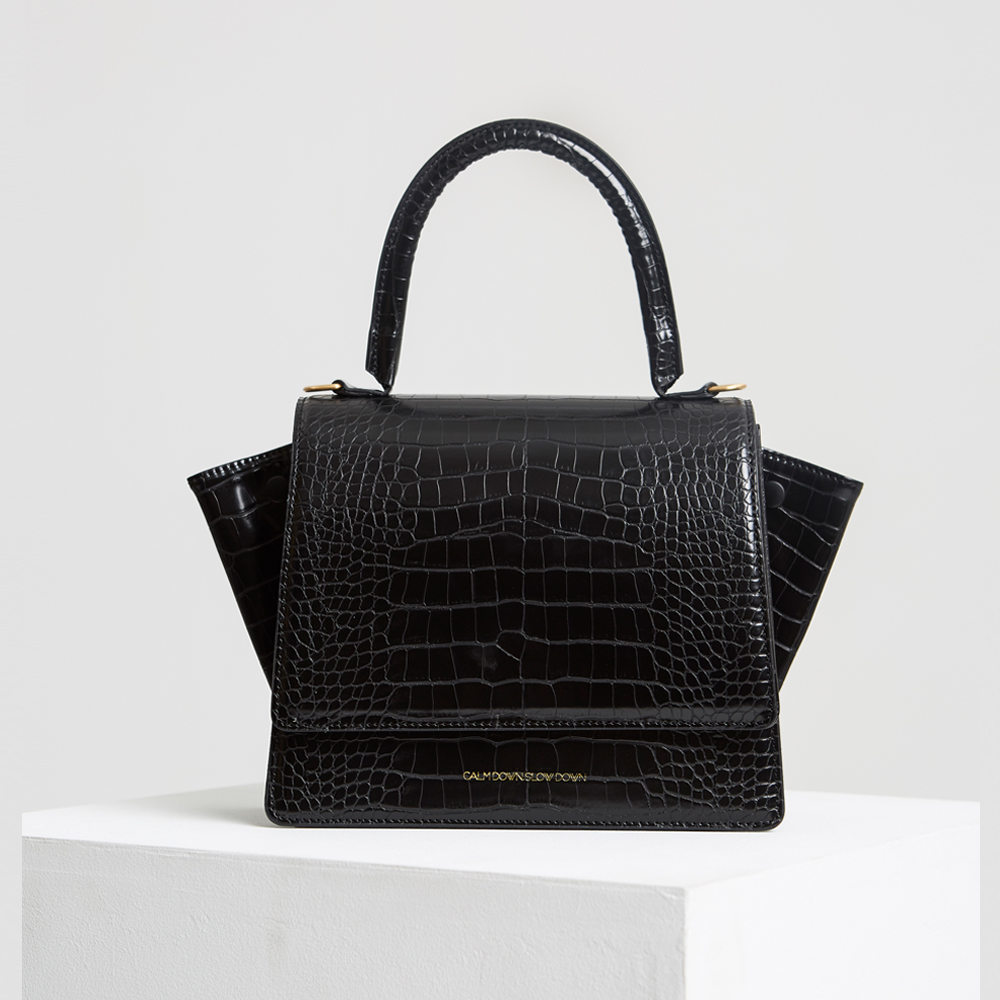 Grace bag_croco black