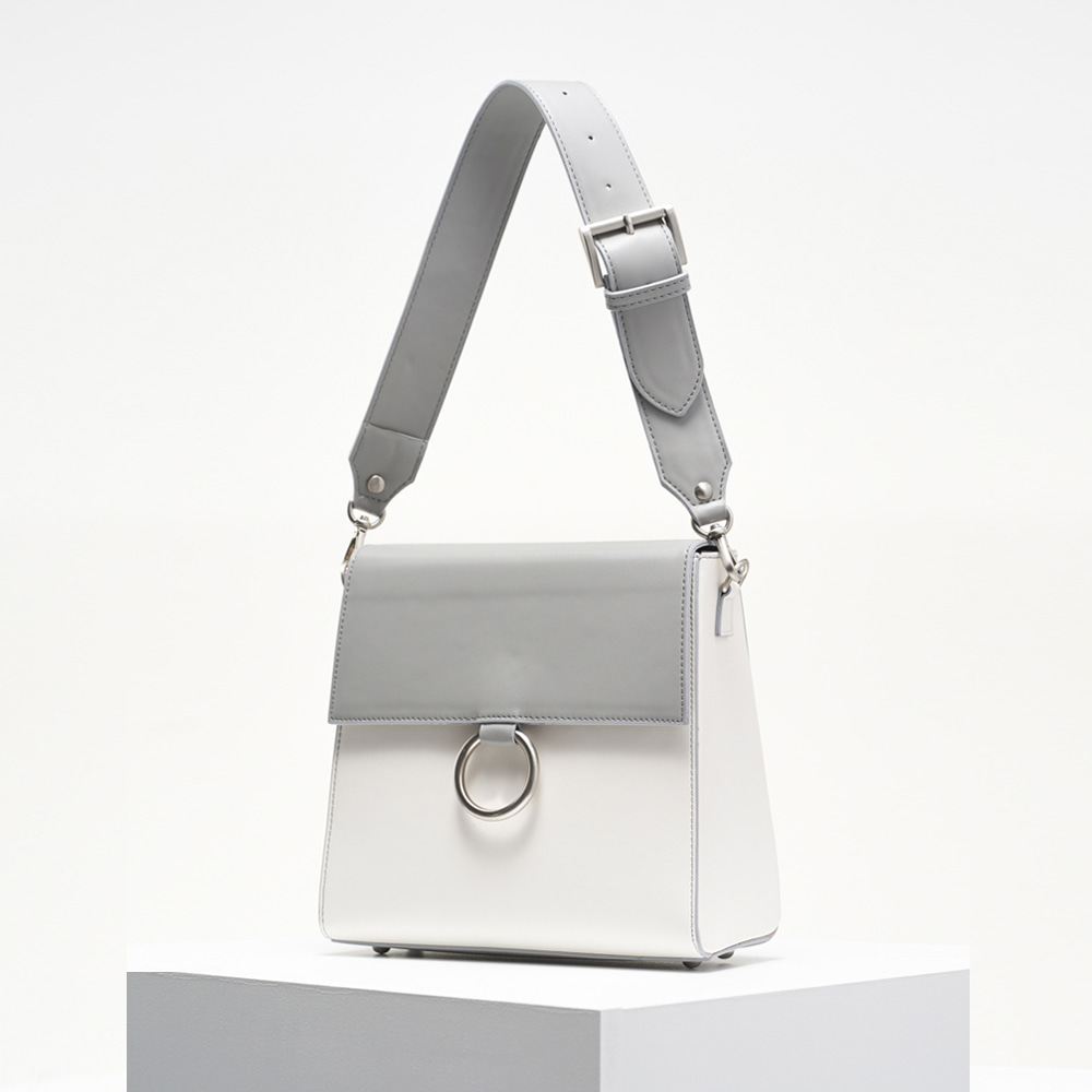 Two strap bag_grey&white