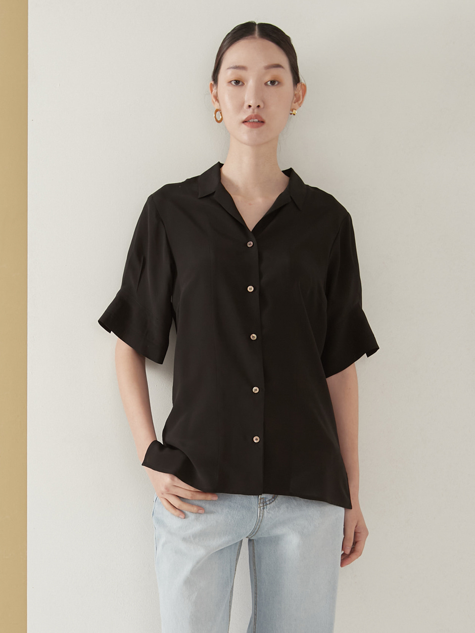 Viscose tailored blouse_black